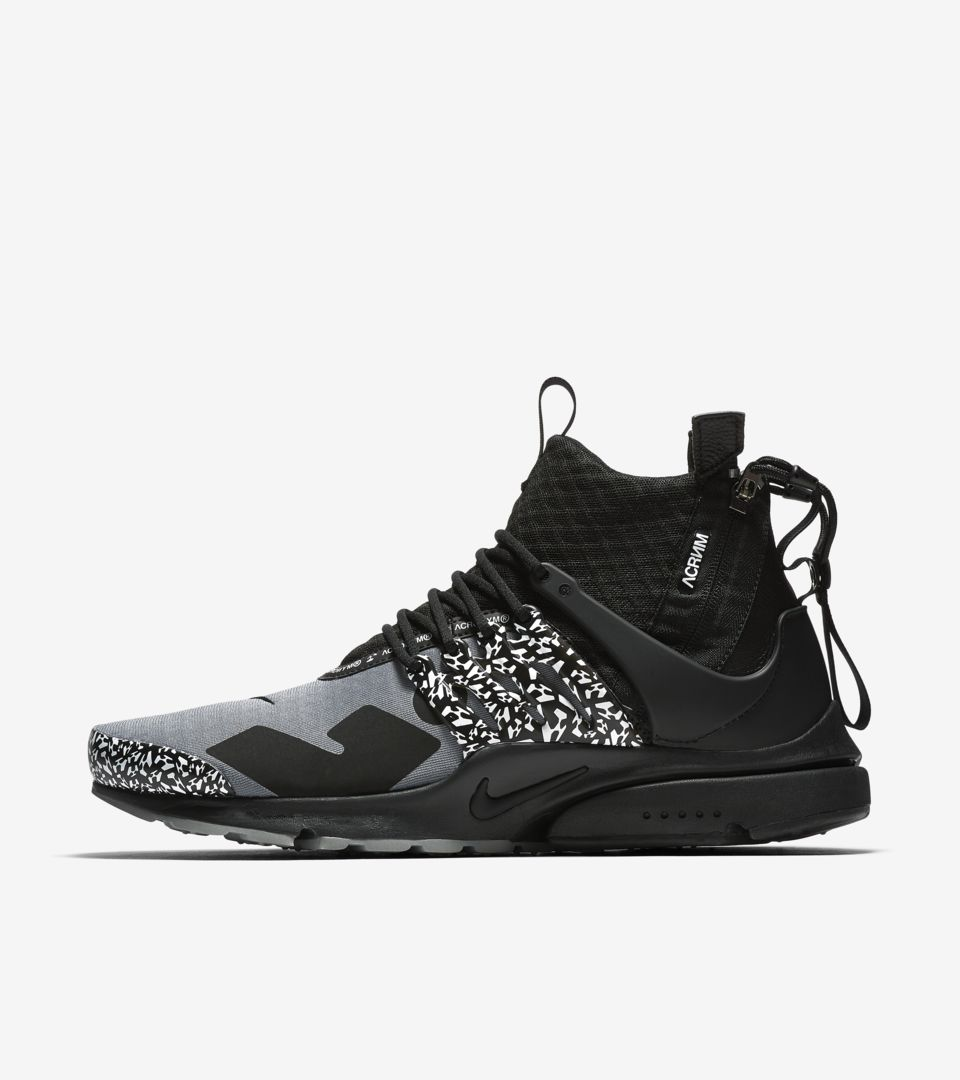 Air Presto Mid Utility X Acronym 'Cool Grey & Black' Release ...