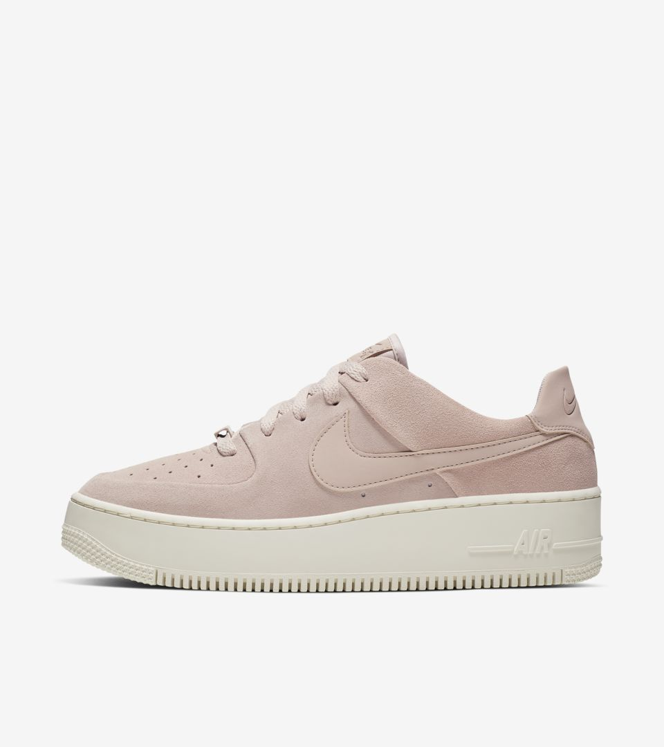 9f6fed9325bfb7 Nike Women s Air Force 1 Sage Low  Particle Beige   Phantom  Release Date.  Nike⁠+ SNKRS