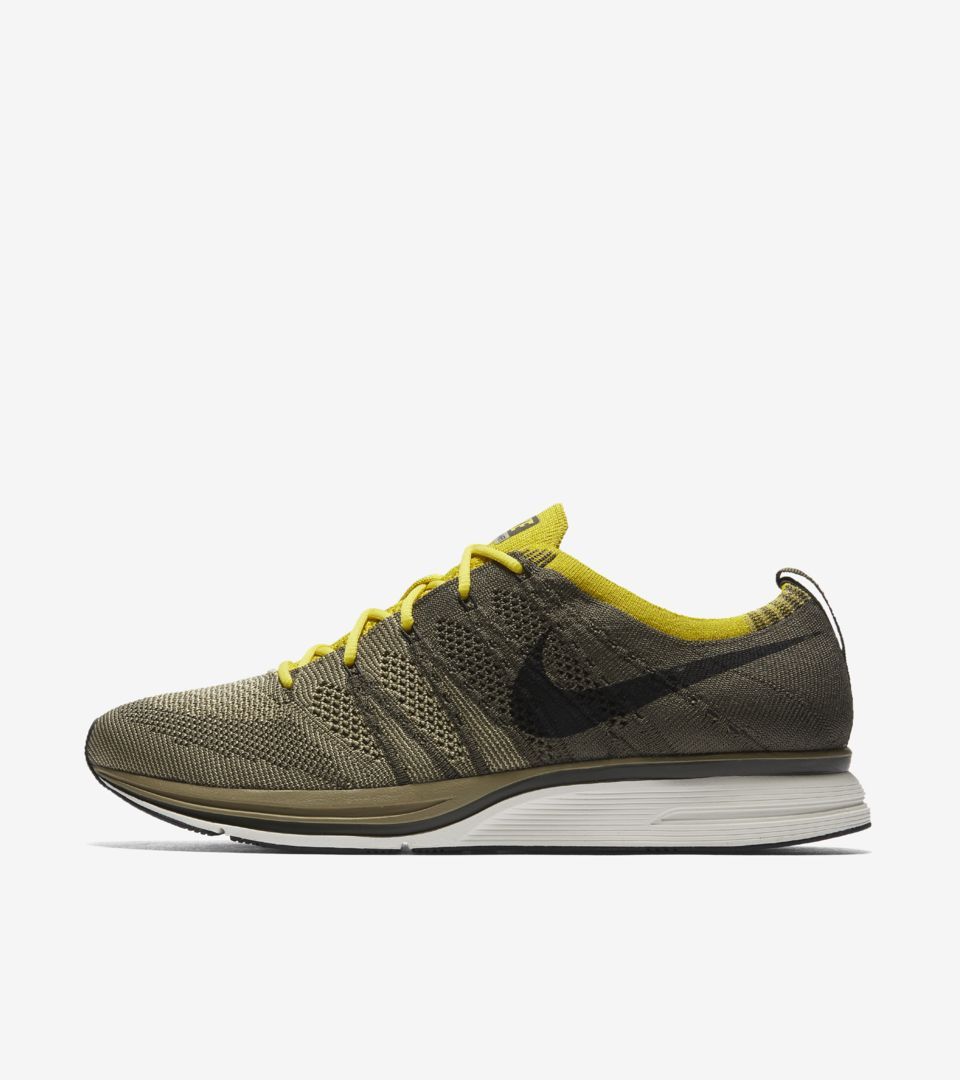 570a85e8ad80 Nike Flyknit Trainer  Cargo Khaki   Bright Citron  Release Date. Nike⁠+  SNKRS