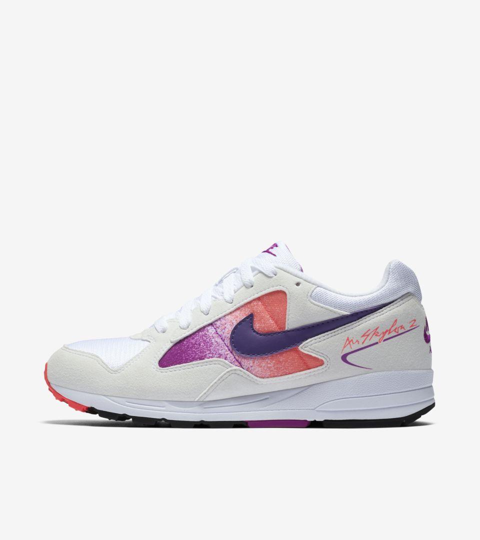 promo code 44523 9a30b Womens Nike Air Skylon 2 White  Solar Red ...