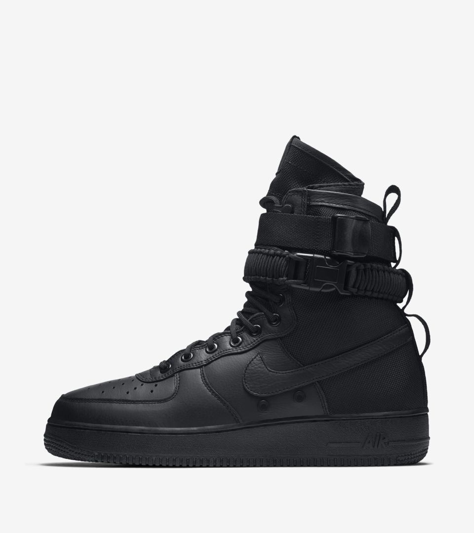 new concept 44e89 03fe8 Nike SF AF-1 'Triple Black' Release Date. Nike+ SNKRS