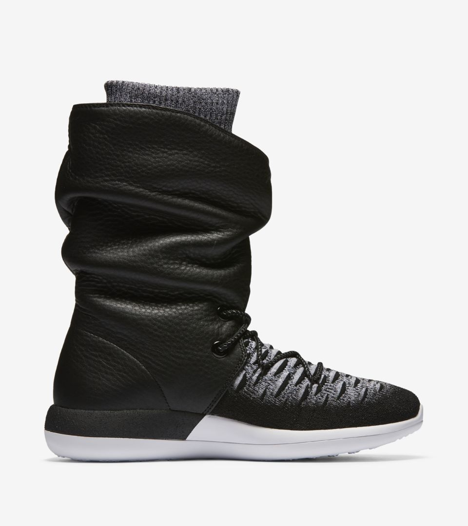 "Buty damskie Nike Roshe Two Flyknit Hi Sneakerboot ""Black"