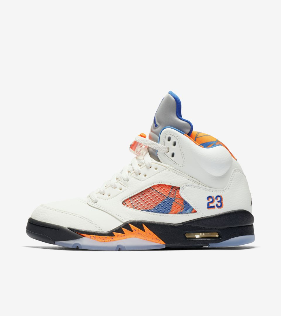 new product e5ef9 b103c Air Jordan 5 Retro  Sail   Racer Blue  Release Date