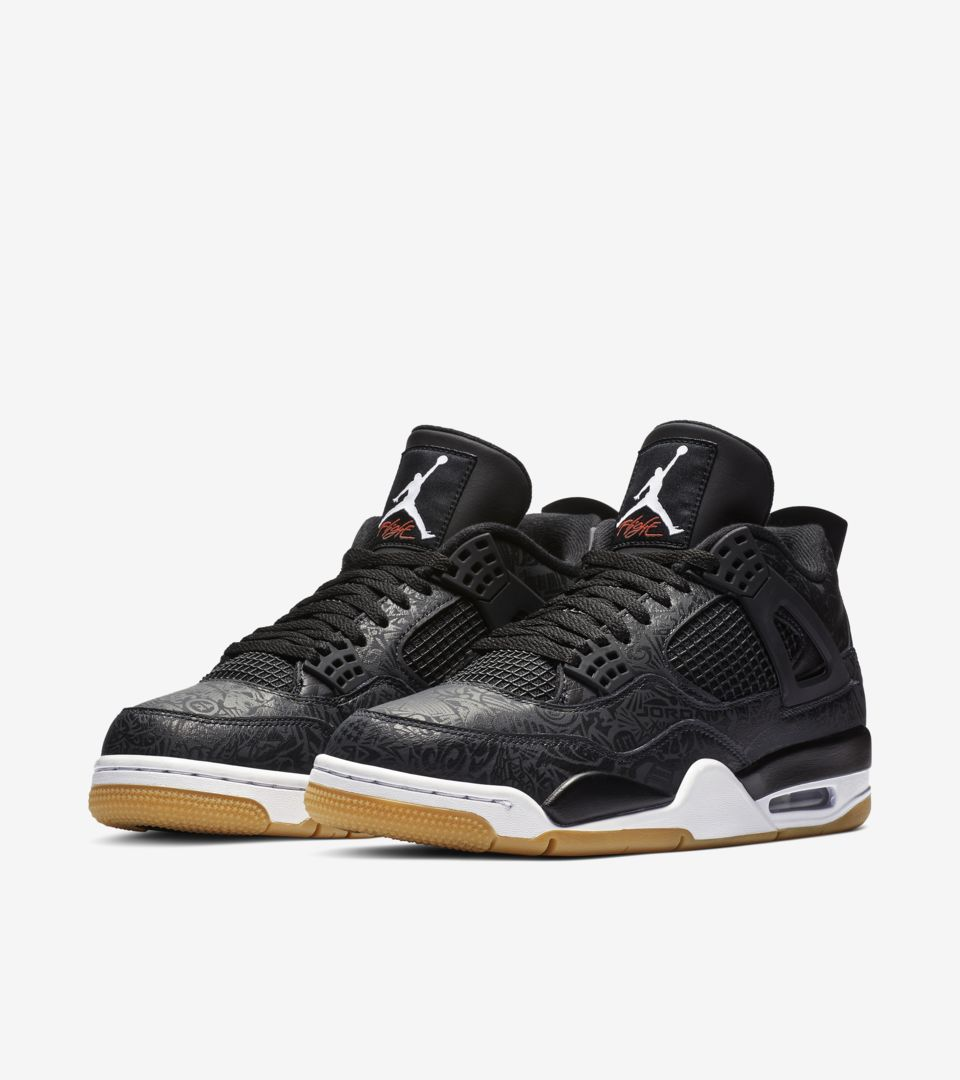 super popular 4a409 9f5b3 Air Jordan 4 'Black & Gum Light Brown & White' Release Date ...