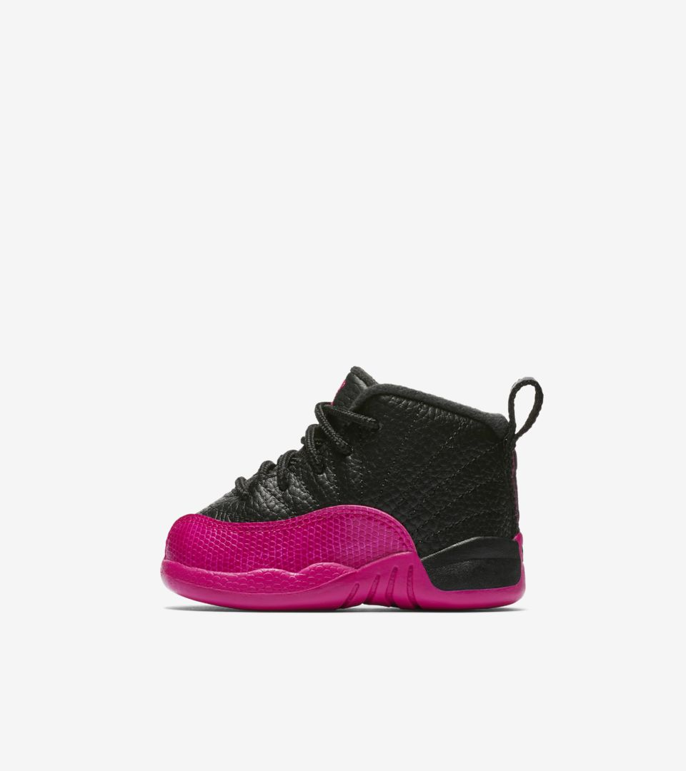 974a4755f5ad Girls  Air Jordan 12 Retro  Black   Deadly Pink  Release Date. Nike ...