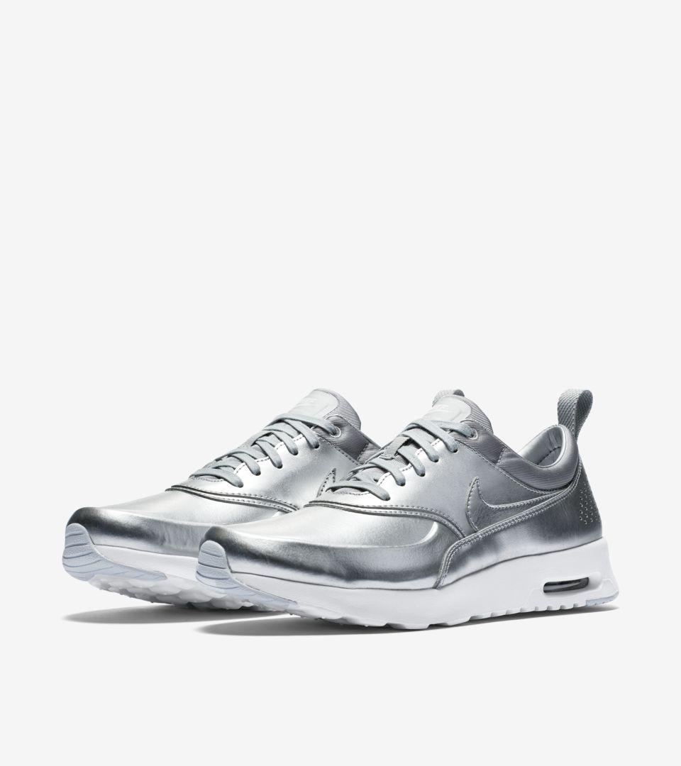 c368a62a6f07 Women s Nike Air Max Thea  Metallic Silver . Nike+ SNKRS