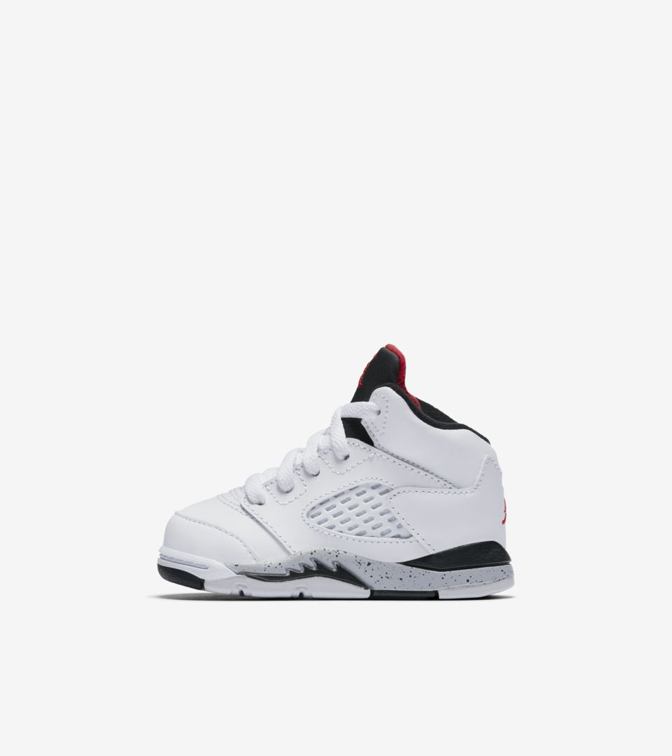 ca2ec5c59bd5 Air Jordan 5 Retro  White   Black   University Red  Release Date ...