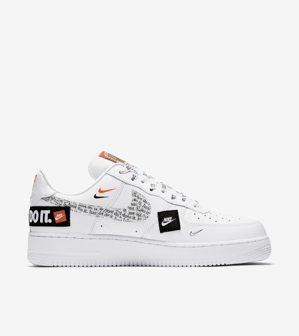 Nike Air Force 1 Premium Just Do It Collection  White   Total Orange ... 79478c3b5