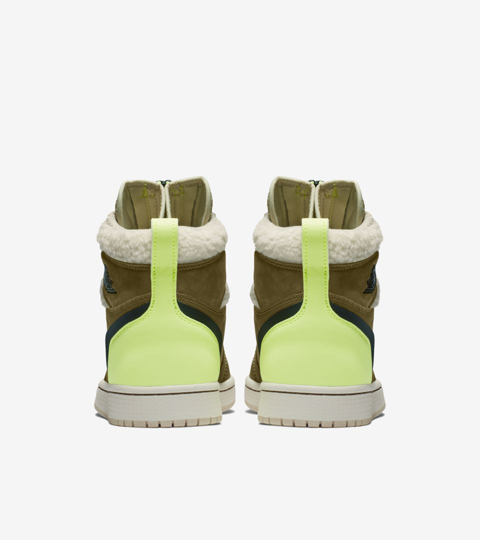 Women's Air Jordan 1 High Zip 'Olive Flak & Volt Glow & Beach' Release Date