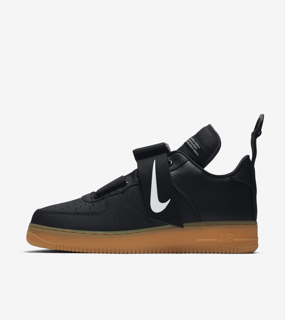 NIke Air Force 1 Utility 'Black & Gum Medium Brown' Release Date