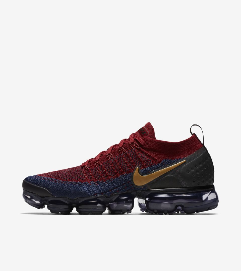 finest selection 63200 1eb95 Nike Vapormax 2 Flyknit 'Team Red & Obsidian & Black ...