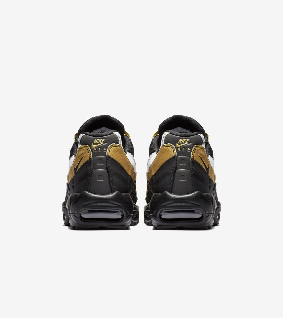 7ab22cdd Air Max 95 OG 'Black & Metallic Gold & White' Release Date. Nike+ SNKRS