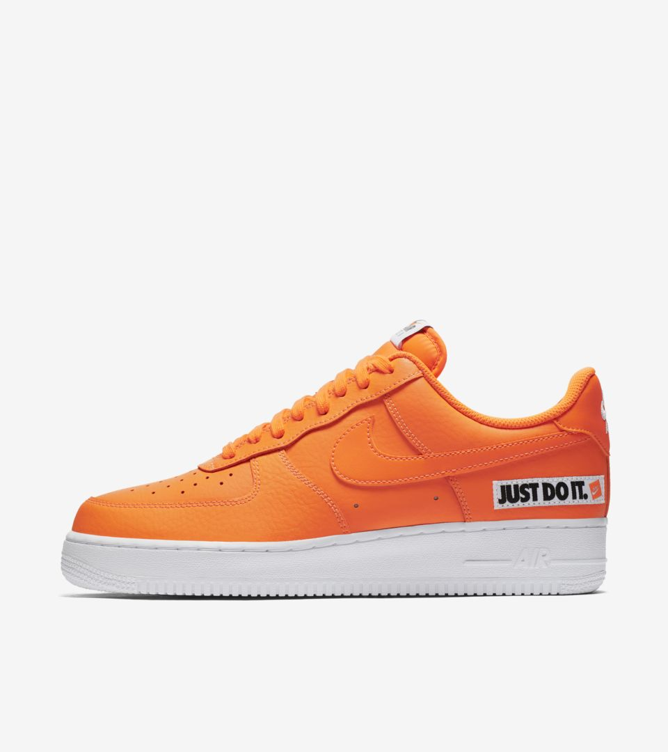 detailed look 3af26 a7928 Nike Air Force 1 JDI Collection  Total Orange   White  Release Date ...
