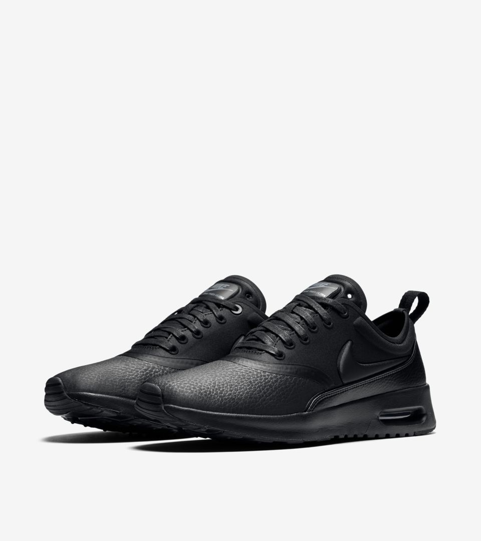 Women s Nike Air Max Thea Ultra Premium  Triple Black . Nike⁠+ SNKRS af925f175