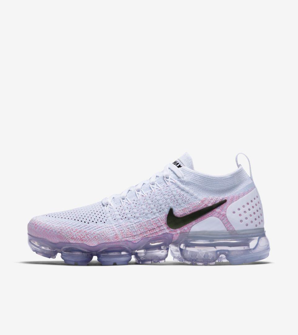 b57880c9f33ec Nike Women s Air Vapormax Flyknit 2  White   Hydrogen Blue  Release Date.  Nike+ SNKRS