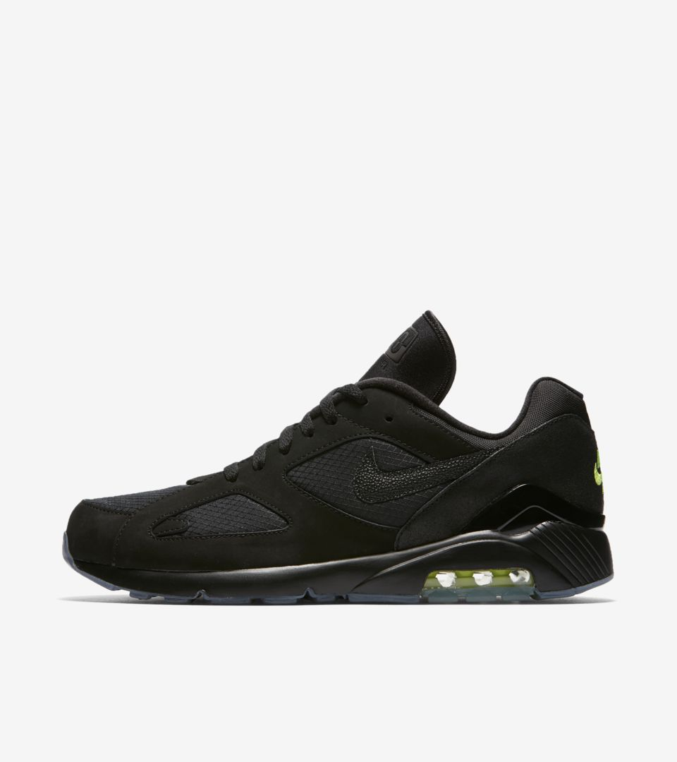 check out 871a6 1c5f3 Nike Air Max 180  Black   Volt  Release Date. Nike⁠+ SNKRS