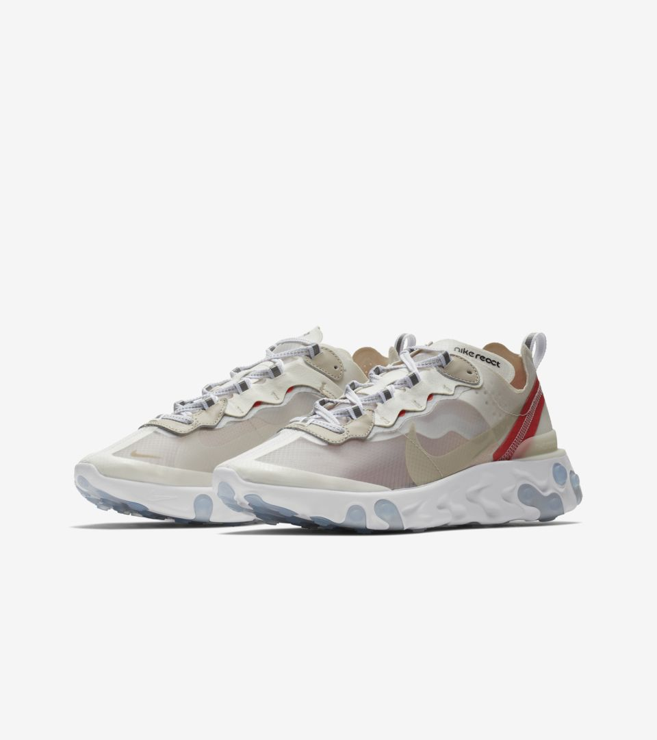 f994ba6f516f Nike React Element 87  Sail   Rush Orange  Release Date. Nike⁠+ SNKRS