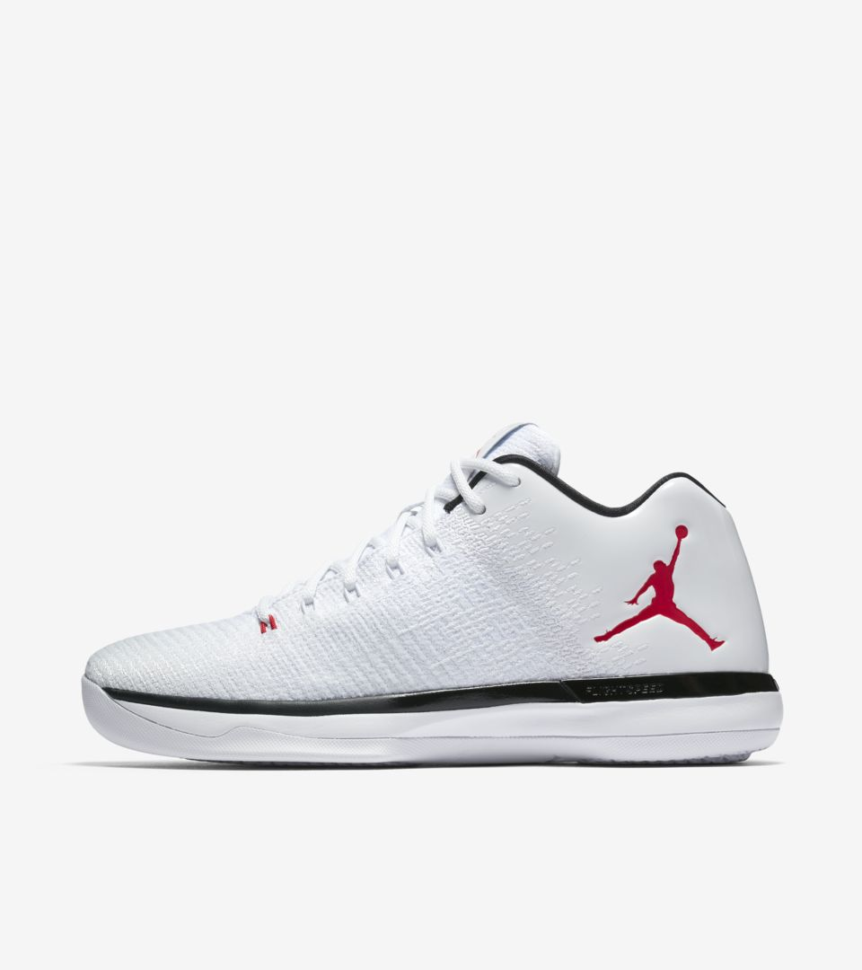 c3e967f6c71a Air Jordan 31 Low  White   Black   University Red  Release Date. Nike⁠+  SNKRS