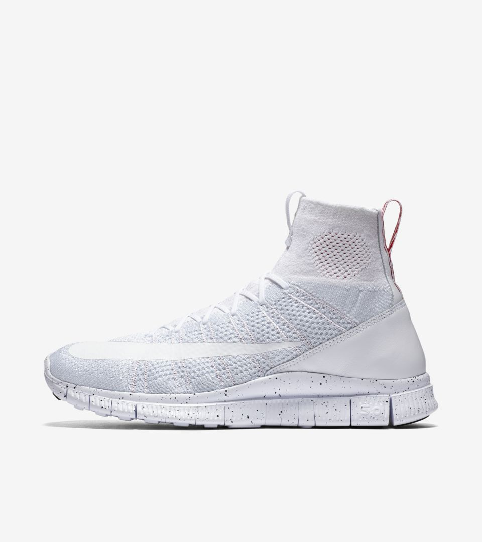 Nike Free Mercurial Superfly 'Triple White'. Nike SNKRS
