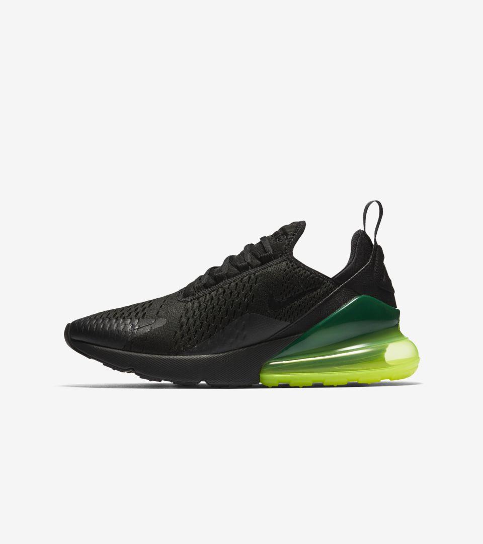 Nike Air Max 270 'Black \u0026 Volt' Release