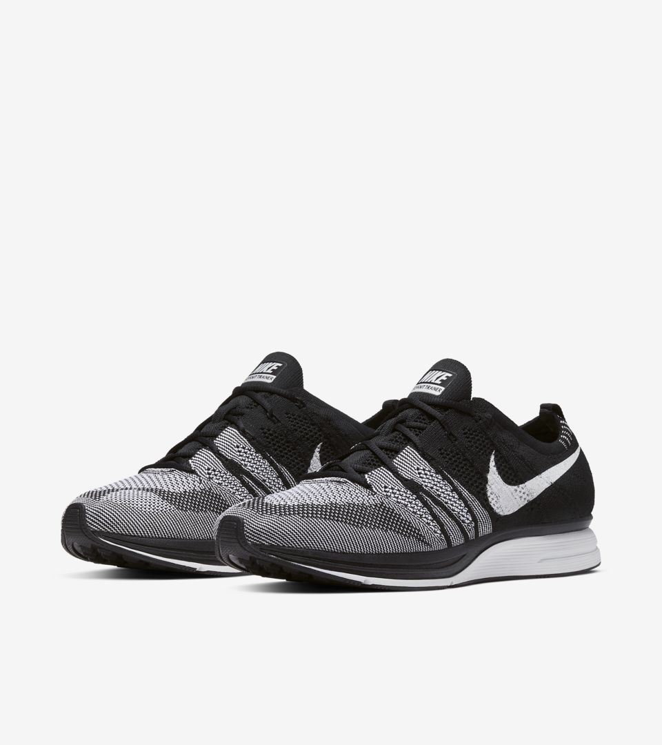 3b450a5cff3 Nike Flyknit Trainer  Black   White  Release Date. Nike⁠+ SNKRS