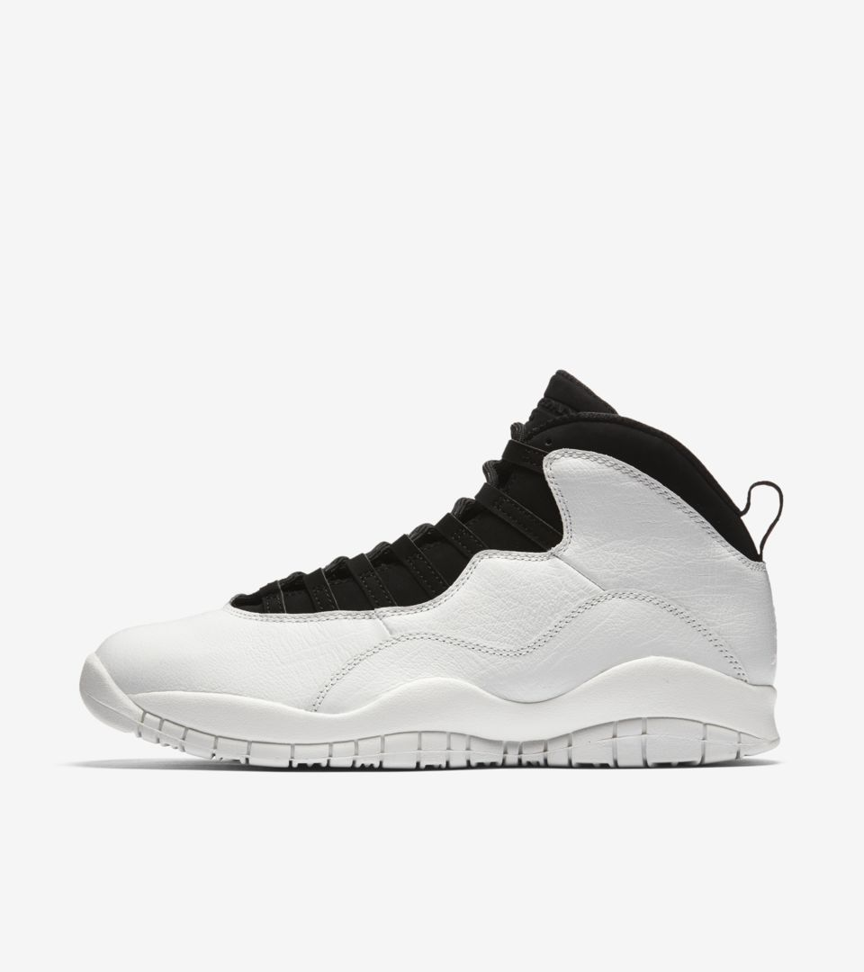 44b968290f62 Air Jordan 10 Retro  Summit White   Black  Release Date. Nike⁠+ SNKRS