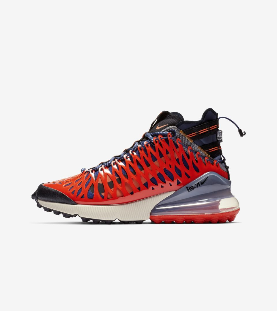 Nike Air Max 270 Ispa Blue Void Terra Orange Black Release
