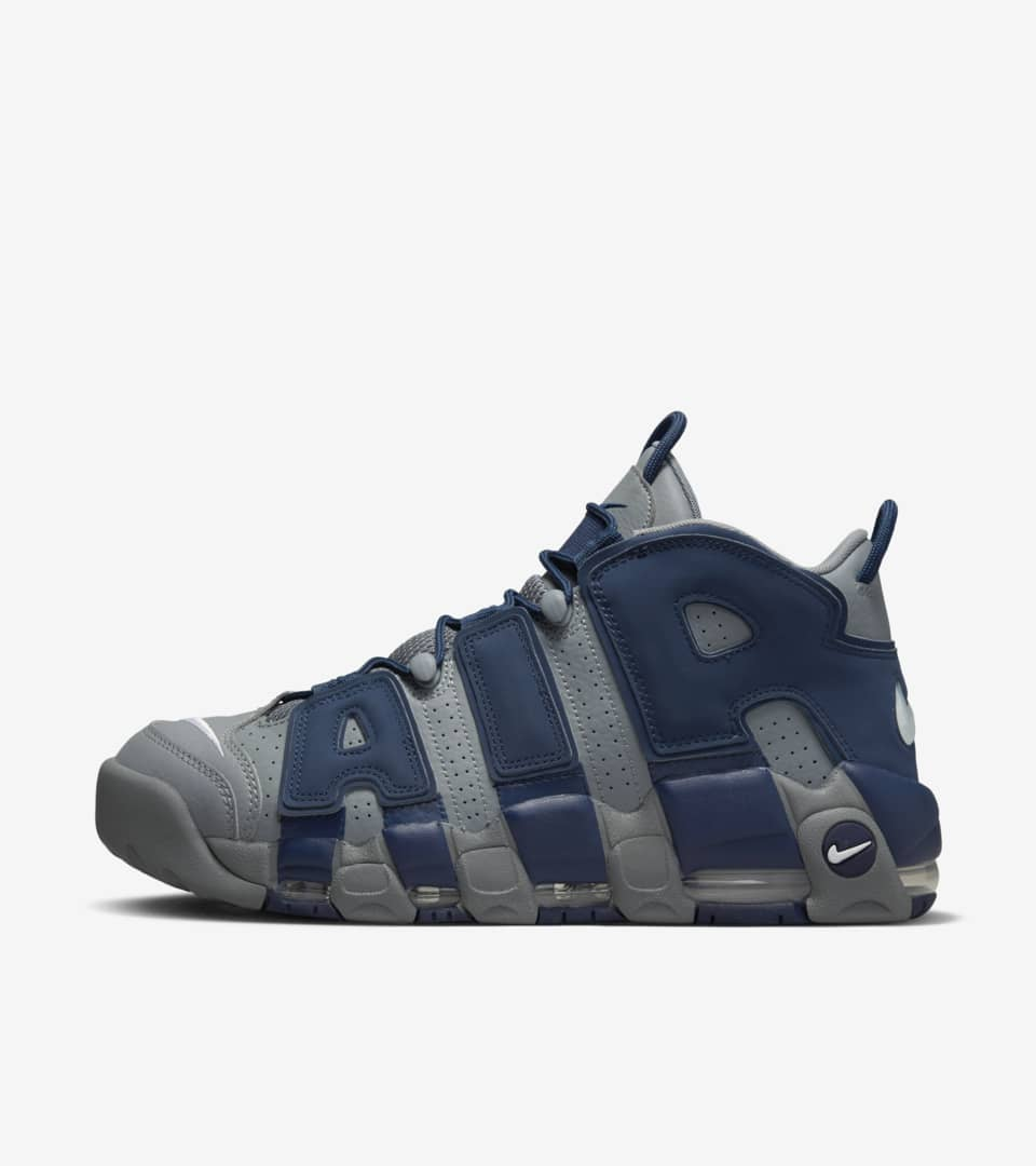 3f91c14830 Nike Air More Uptempo 'Cool Grey & Midnight Navy & White' Release ...