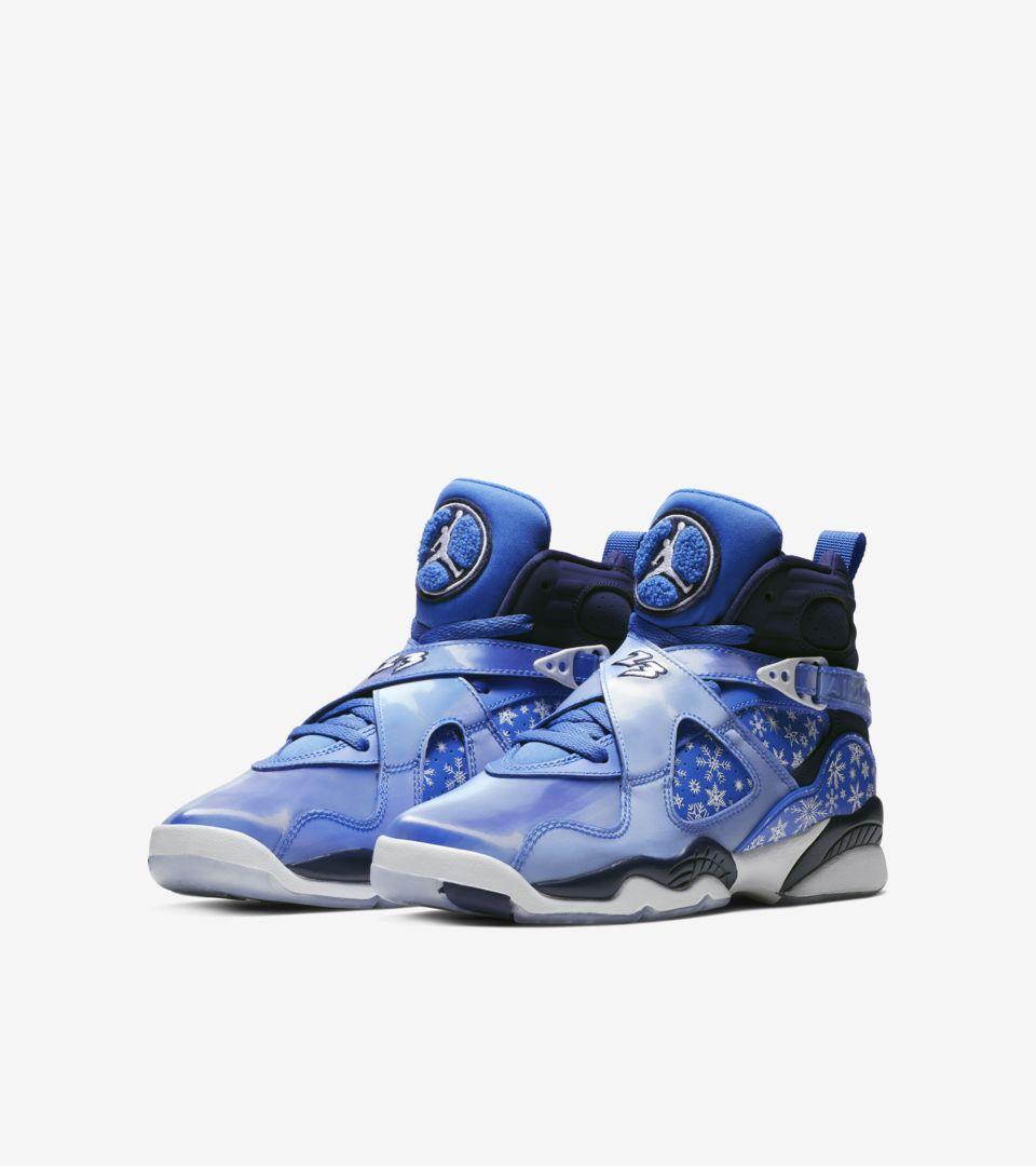 sneakers for cheap c661e 1d506 Big Kids' Air Jordan 8 'Cobalt Blaze & White' Release Date ...