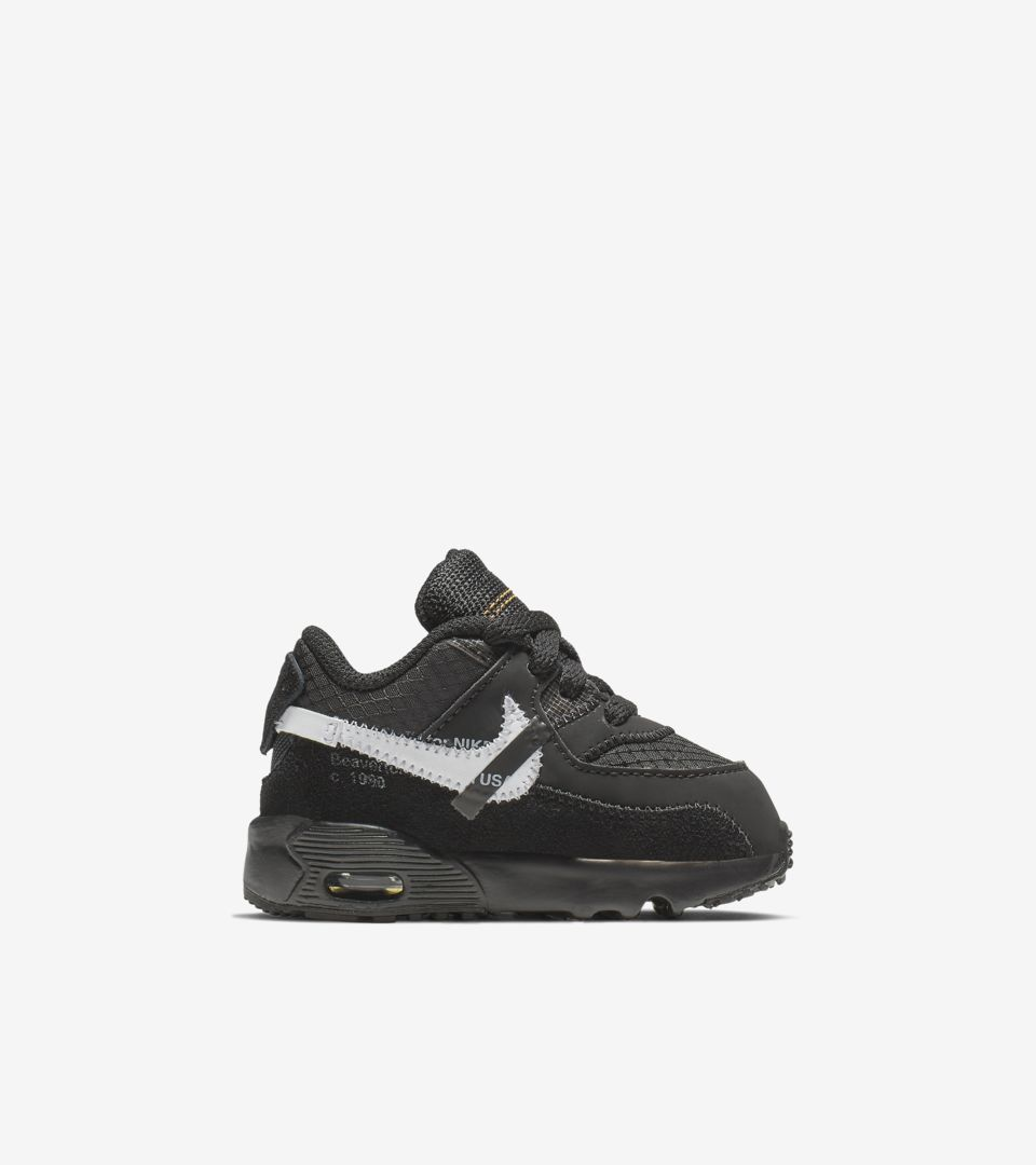 The Ten: Toddler Air Max 90 'Black' Release Date