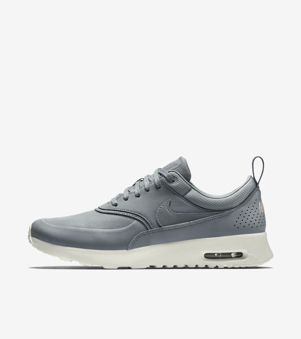7218d776d8be Women s Nike Air Max Thea Premium  Cool Grey   Metallic Pewter ...