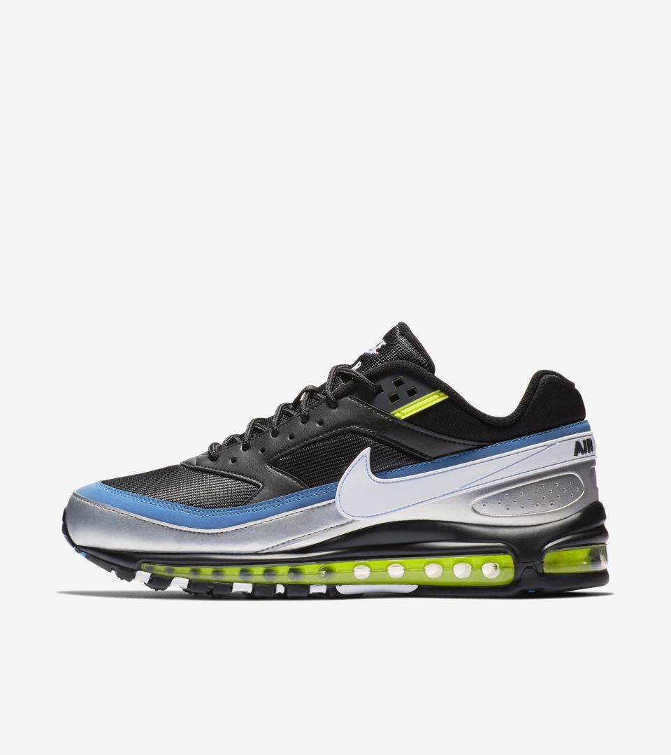 finest selection 10d08 2b99a Nike Air Max 97 BW  Black   Metallic Silver   Atlantic Blue  Release Date.  Nike⁠+ SNKRS