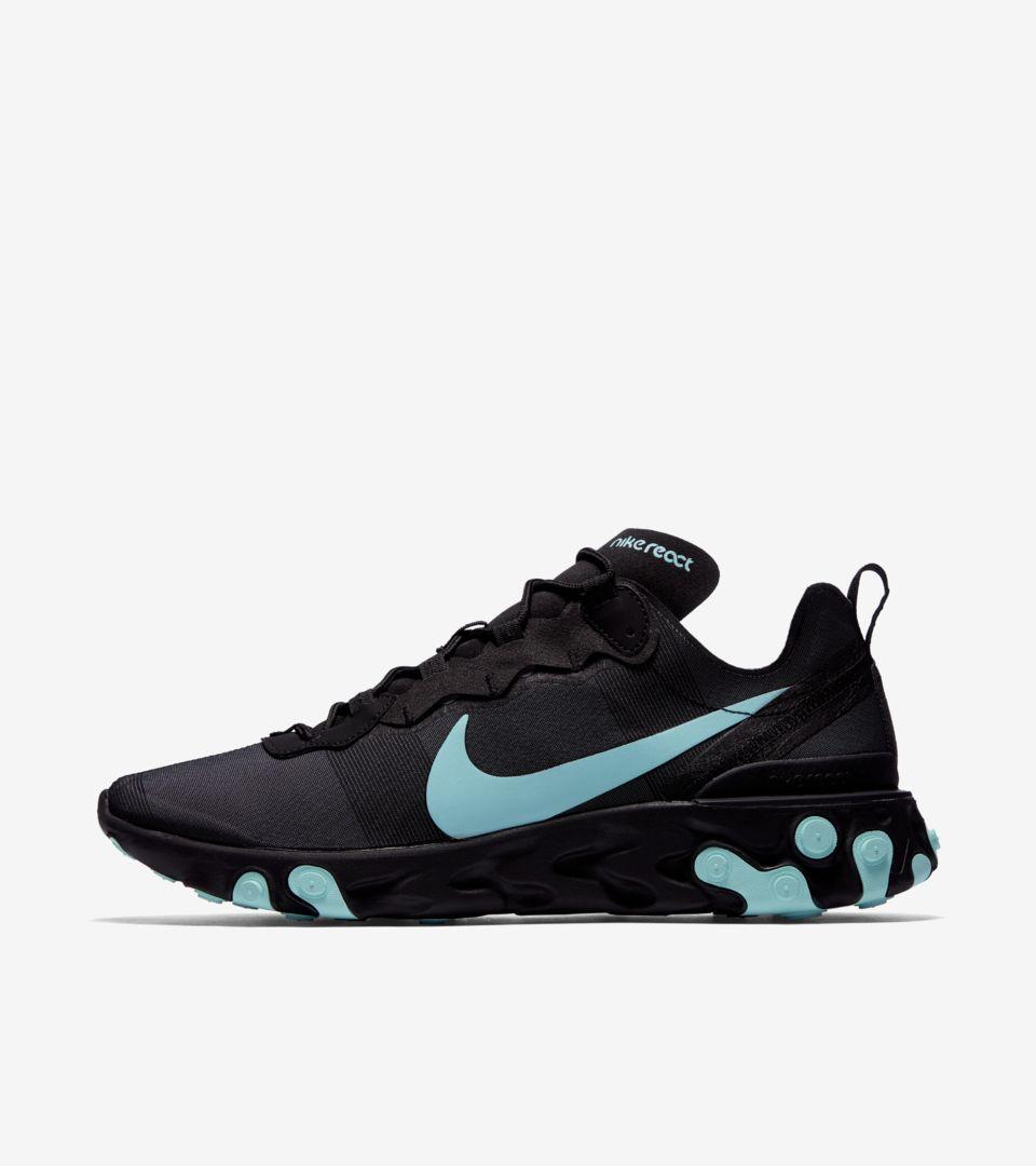 b85c636e72c1 Nike React Element 55  Black   Aurora  Release Date. Nike+ SNKRS