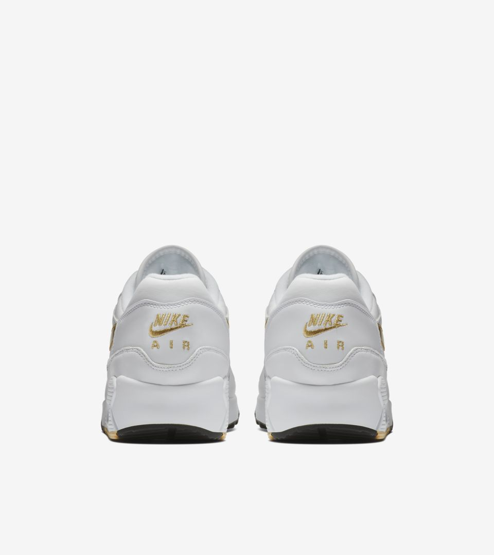new arrivals a2af6 85aa0 ... Nike Air Max 90 1  White   Metallic Gold  ...
