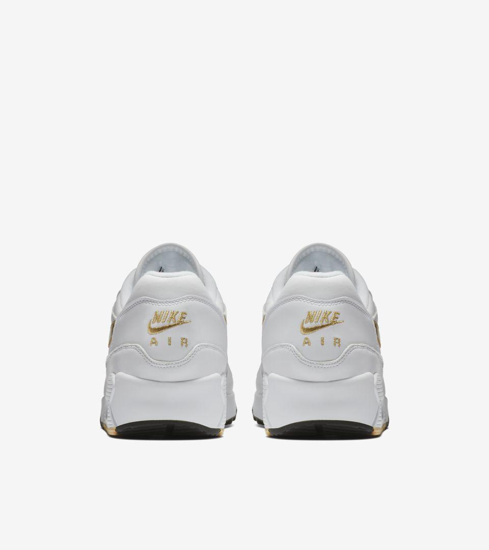 bdd9fd17ca Nike Air Max 90 1  White  amp  Metallic Gold  Release Date. Nike+ ...