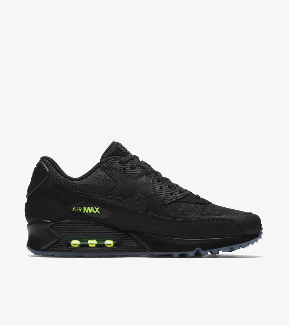 5c5dd8355ca Nike Air Max 90  Black   Volt  Release Date. Nike⁠+ SNKRS
