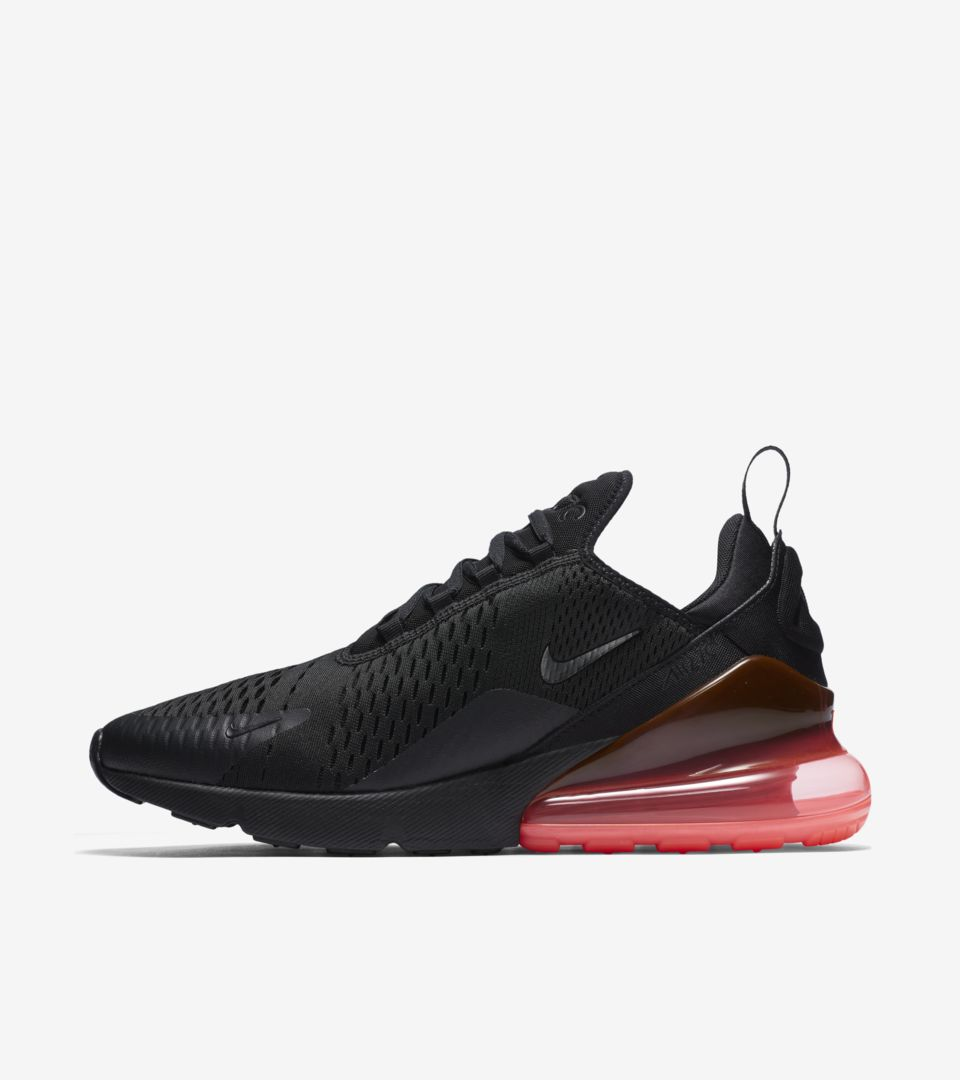 Nike Air Max 270 'Black & Hot Punch' Release Date. Nike⁠Plus