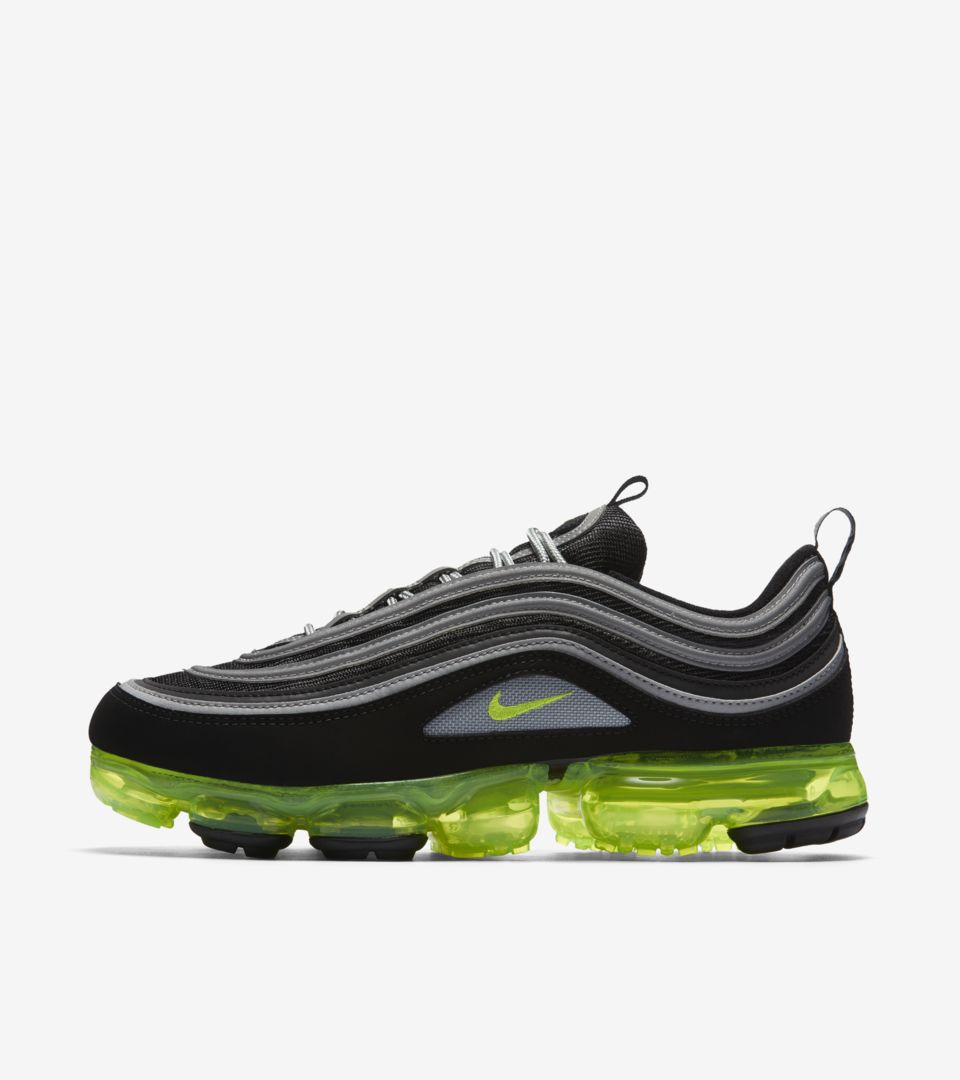 best loved 98d9d b93a1 Nike Air Vapormax 97 'Black & Volt & Metallic Silver ...