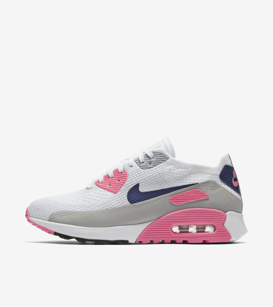 buy online 4ea33 ea19b Women's Nike Air Max 90 Ultra 2.0 Flyknit 'White & Laser ...
