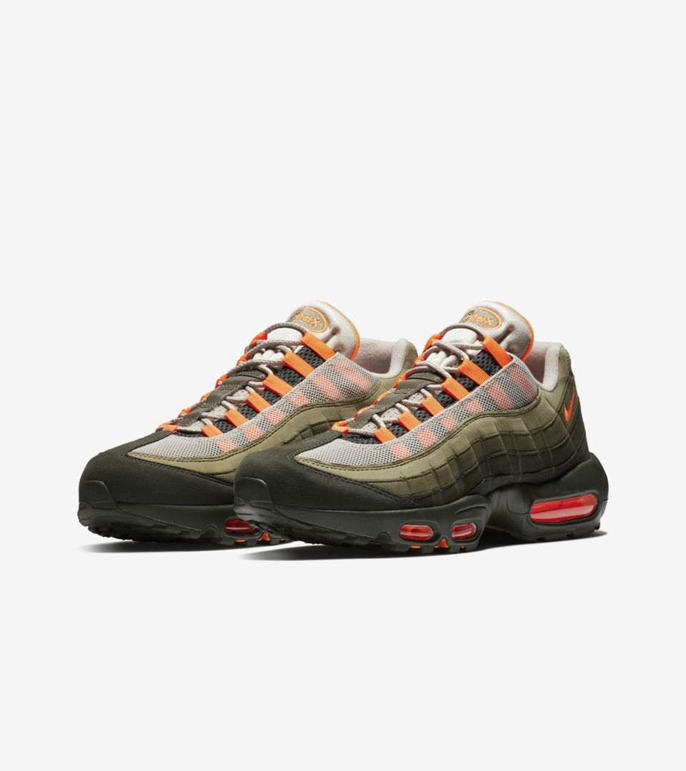 Nike Air Max 95  Total Orange   Medium Olive  Release Date. Nike⁠+ SNKRS d38ef7f9b