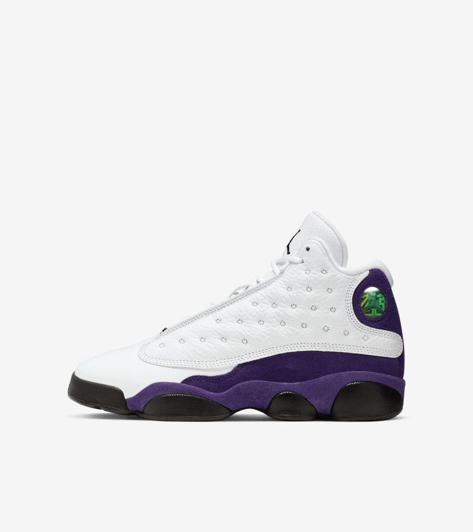 Air Jordan 13 \u0027White/Court Purple\u0027 Release Date. Nike SNKRS