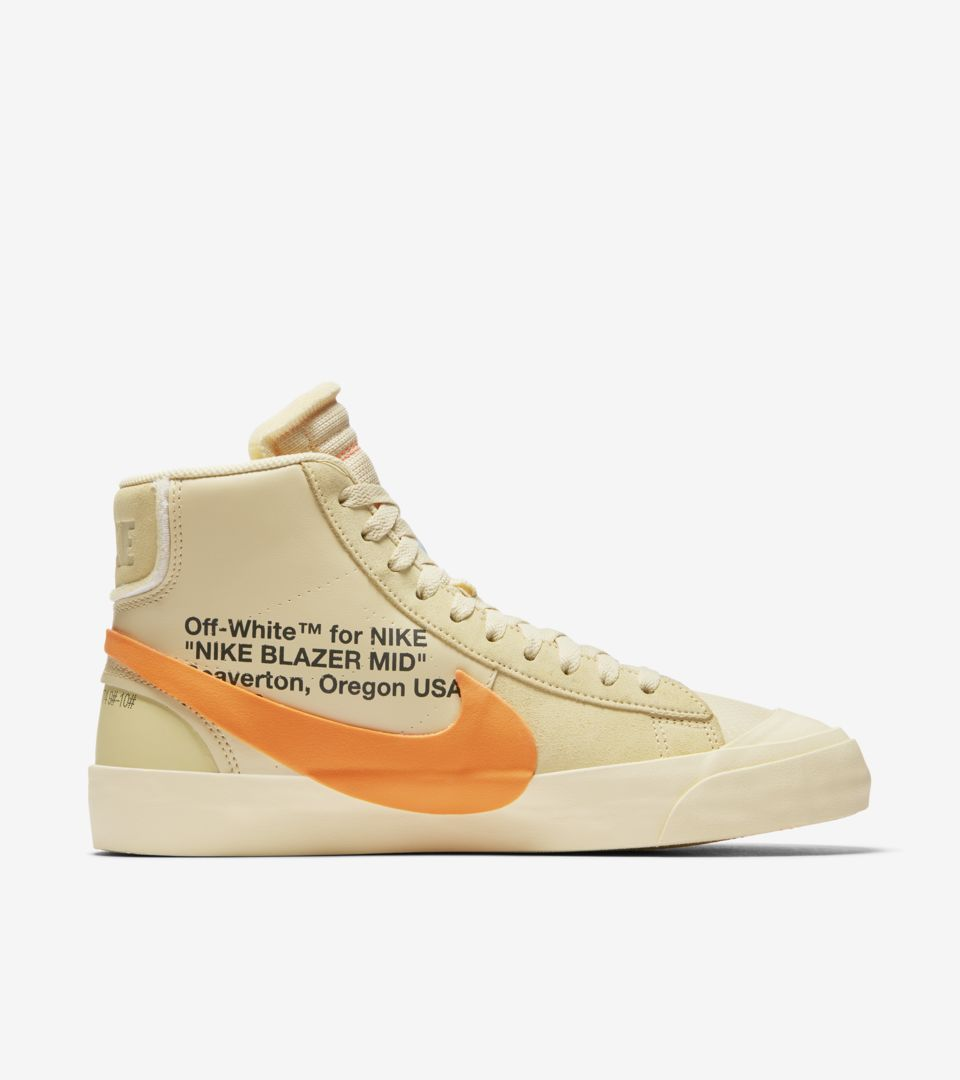 866a3a061c44 The 10  Nike Blazer Mid  Canvas   Pale Vanilla   Total Orange ...