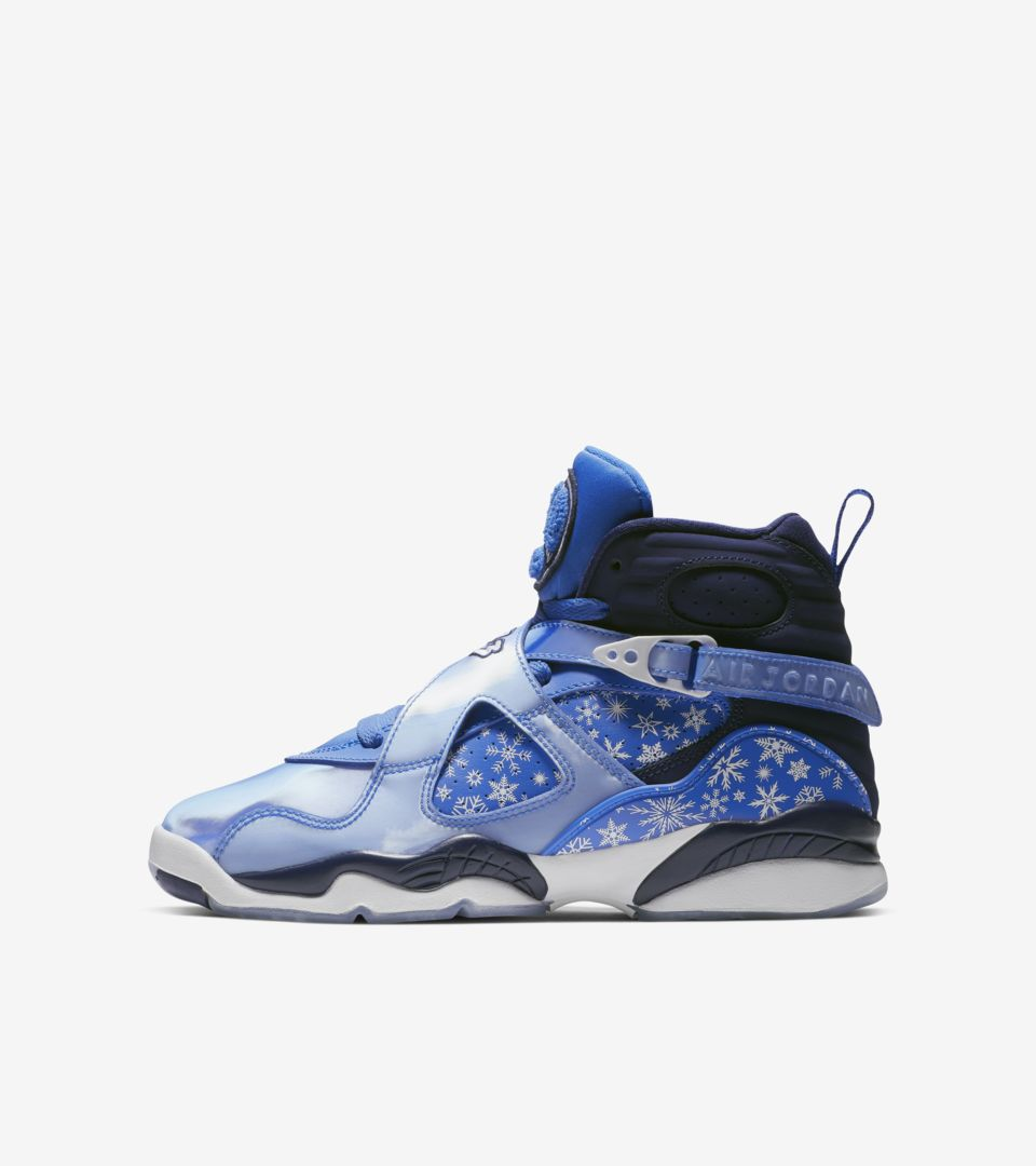 sneakers for cheap a424c 04a04 Big Kids' Air Jordan 8 'Cobalt Blaze & White' Release Date ...