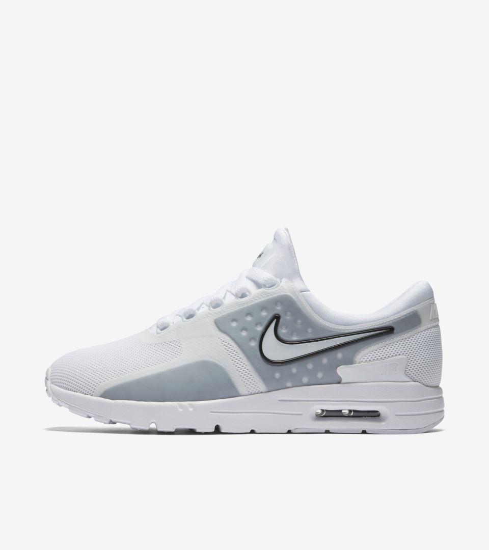 low priced e84ec eae9d Women's Nike Air Max Zero 'White & Wolf Grey'. Nike+ SNKRS