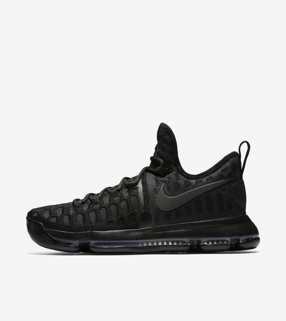 e2177df95218 Nike KD 9  Triple Black  Release Date. Nike+ SNKRS