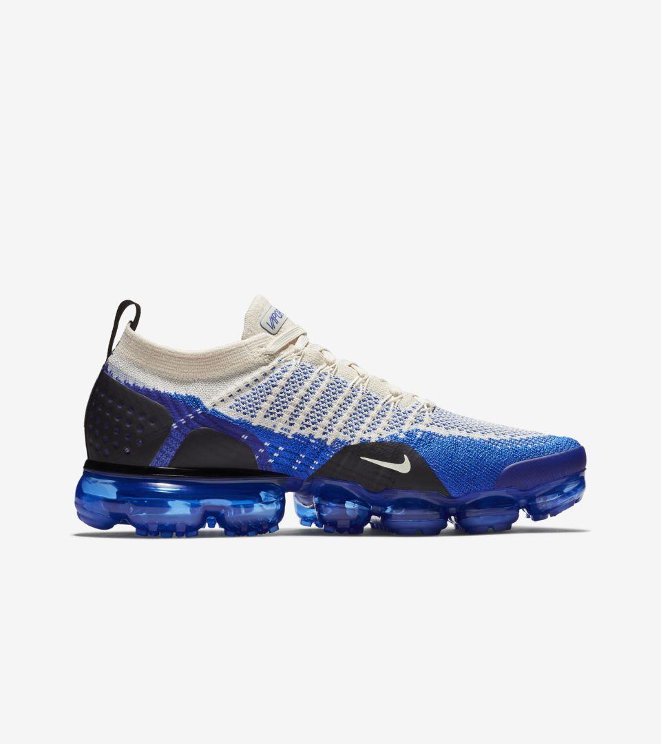 online store fb167 c6a6d Nike Air Vapormax Flyknit 2 'Light Cream & Racer Blue ...