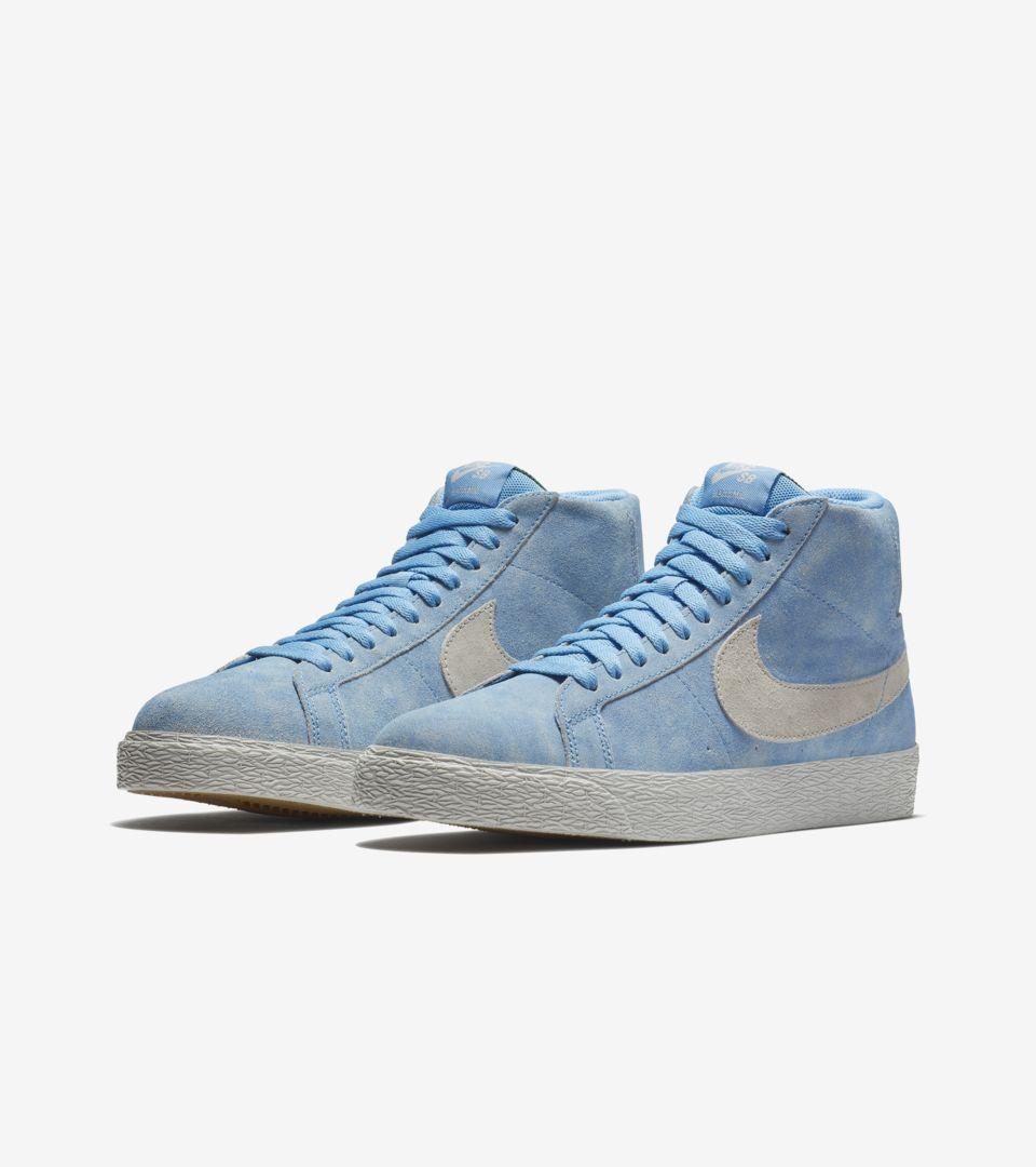 42554dee2190e Nike SB Blazer Mid  University Blue   Light Bone  Release Date. Nike ...