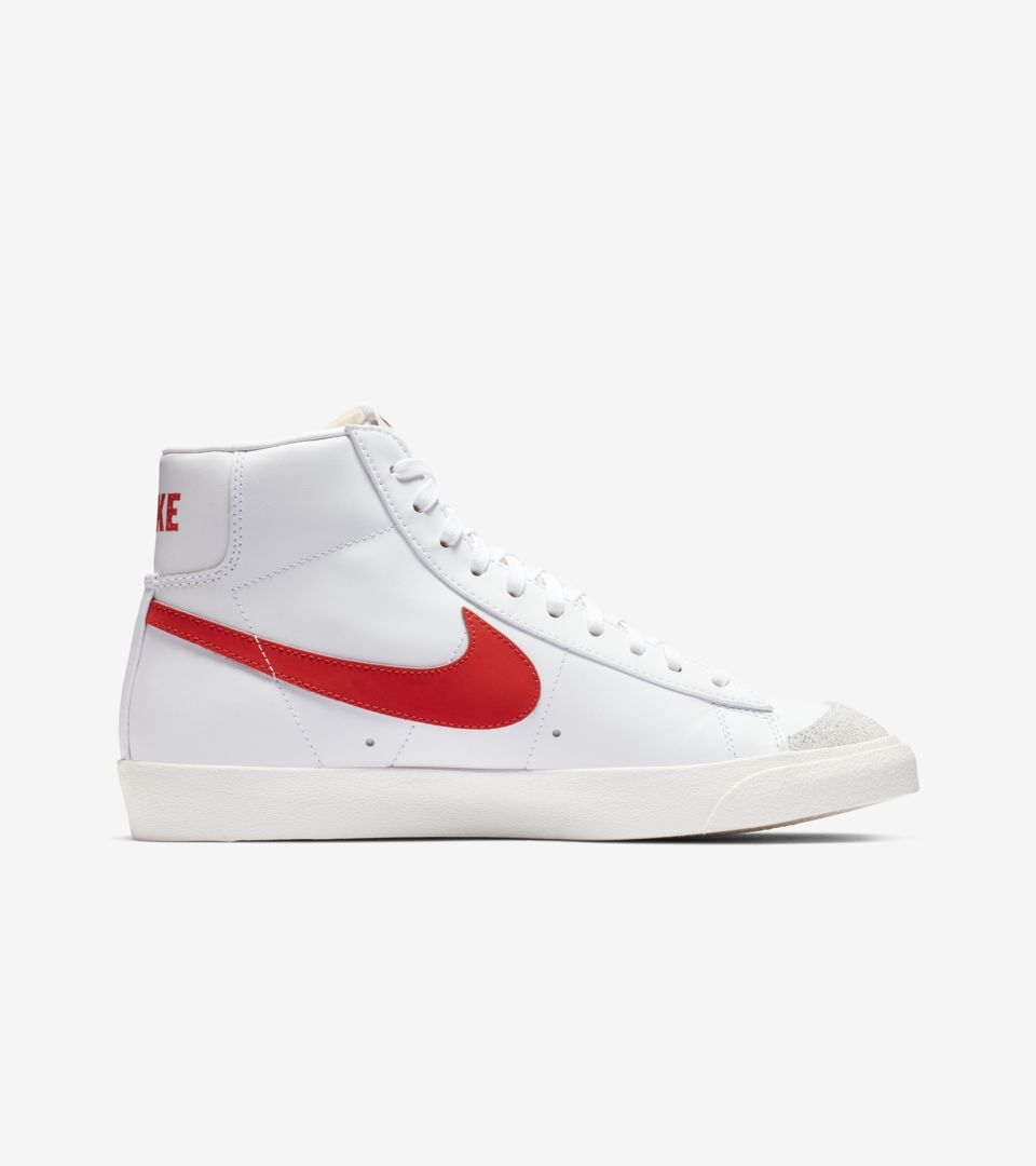 Nike Blazer Mid '77 Vintage 'Habanero Red & White & Sail' Release Date