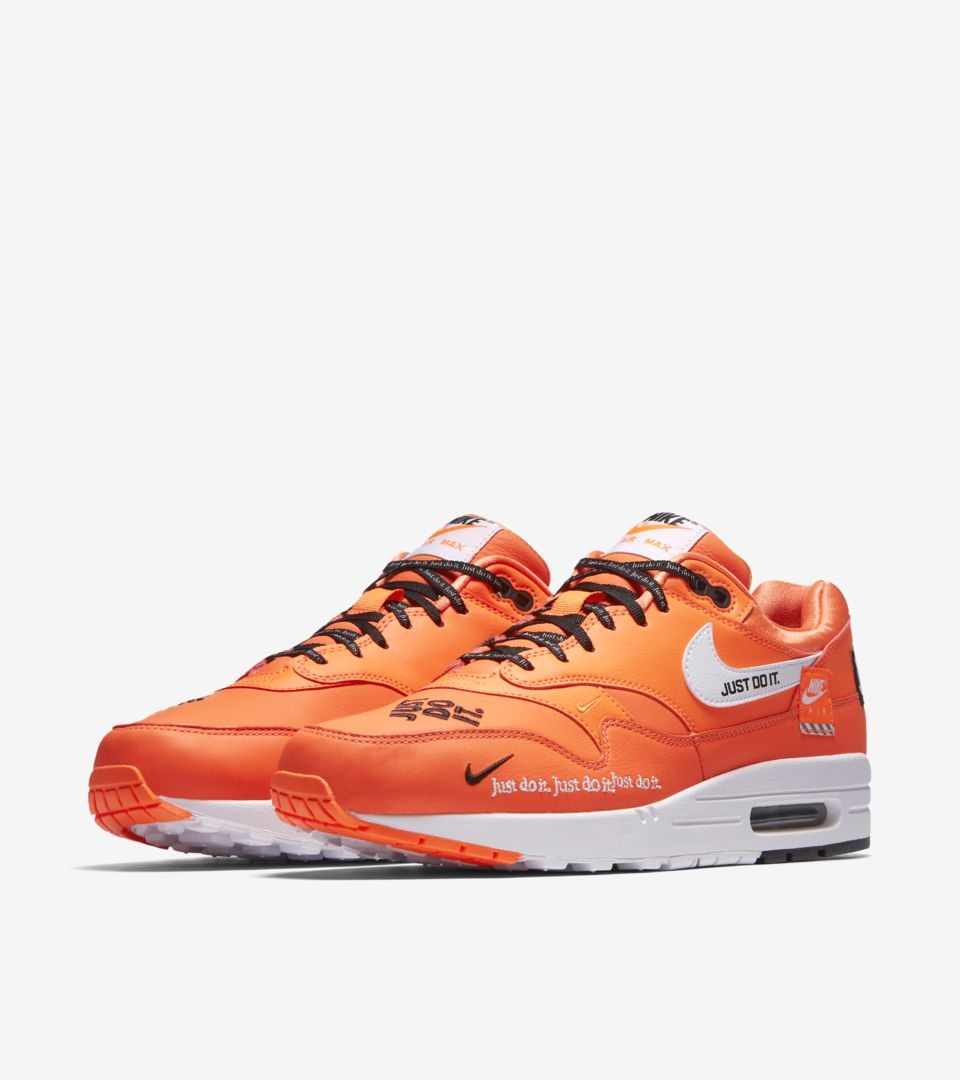 designer fashion c24c8 2af2b Nike Air Max 1 Just Do It Collection  Total Orange   White  Release ...