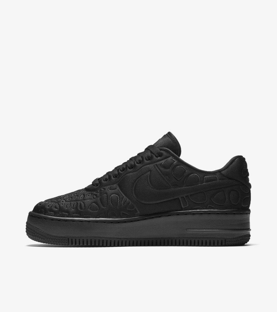 Women's Nike Air Force 1 Upstep 'Triple Black'. Nike⁠Plus SNKRS